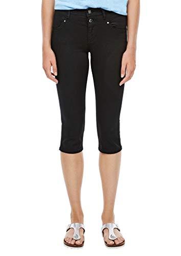 s.Oliver Damen Slim Fit: Coloured Capri-Jeans black 36