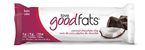 Love Good Fats Coconut Chocolate Chip Snack Bar, Count-12, 468 g