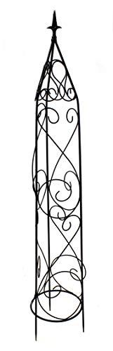 DARO DEKO Metall Rankhilfe Obelisk schwarz 1 Stück - L - 154cm