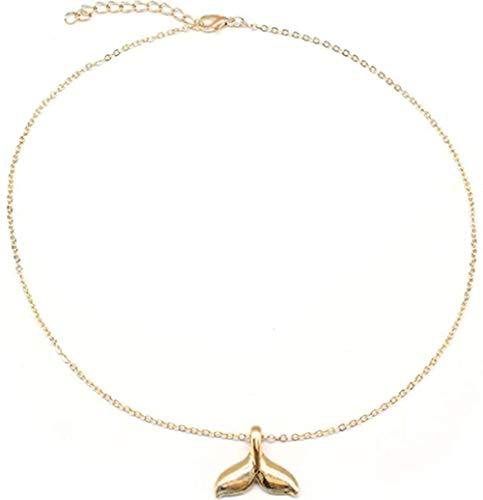 NC110 Exquisito Collar con Colgante de Cola de pez, Collares de clavícula de Cadena Larga de Verano para Mujer, joyería para el Cuello YUAHAOJIGE8