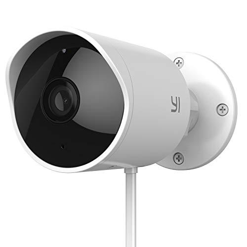 YI Überwachungskamera Aussen Wlan für Außenbereich 1080P WLAN IP Kamera IP65 Kostenlose Cloud-Speicherung HD Outdoor Infrarot Nachtsicht Datensicherheit mit Deutscher Server App Anleitung Support
