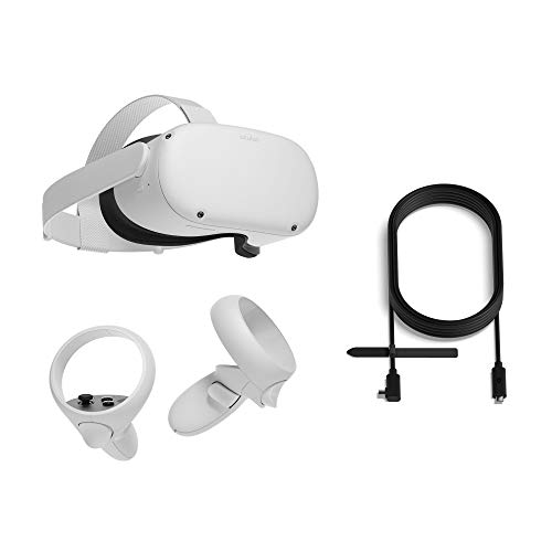 Oculus Quest 2 All-In-One Virtual Reality Headset - 256 GB + Oculus Link Headset Cable