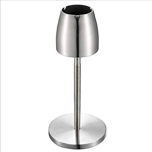 HYAN Portable Windproof Ashtray Silver Stainless Steel Telescopic Rotating Ashtray Creative Bar Ktv Ashtray