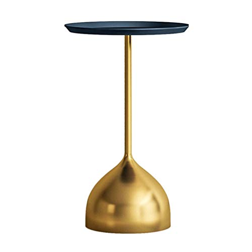 Metal Round Plate Side Table Round,Bedside Table End Table Coffee Table Modern Decorative Table For Living Room, Bedroom Sofa Small Round Table Corner Table (Color : Gold-B, Size : 48 * 60cm)