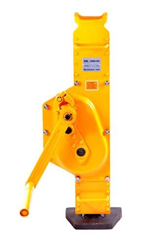 Pro-Lift-Werkzeuge Stahlwinde 10t Stockwinde mit Ratschen-Kurbel Fußhöhe 30mm Low Steel Jack Handwinde Winde 10000kg