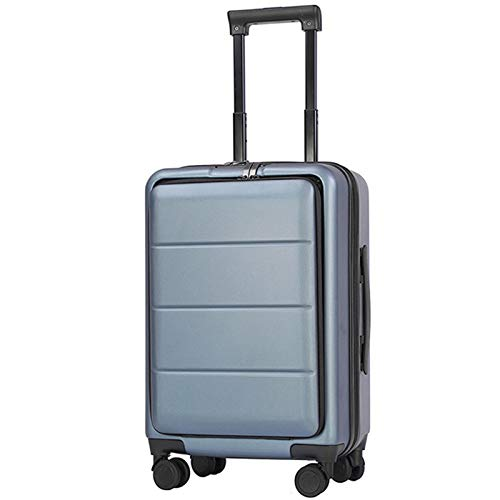 Adlereyire Trolley Suitcase Lightweight Durable Carry On Cabin Hand Luggage Set, Travel Bag with 4 Wheels (Color : Blue, Size : 42 * 25 * 63cm)