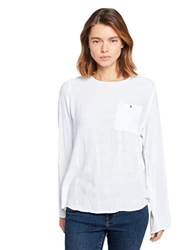 TOM TAILOR Denim Damen Tunika Bluse, 10332-Off White, XS