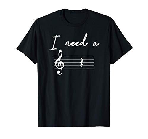 Musik Spruch Ich brauche eine Pause Musikerlehrer T-Shirt