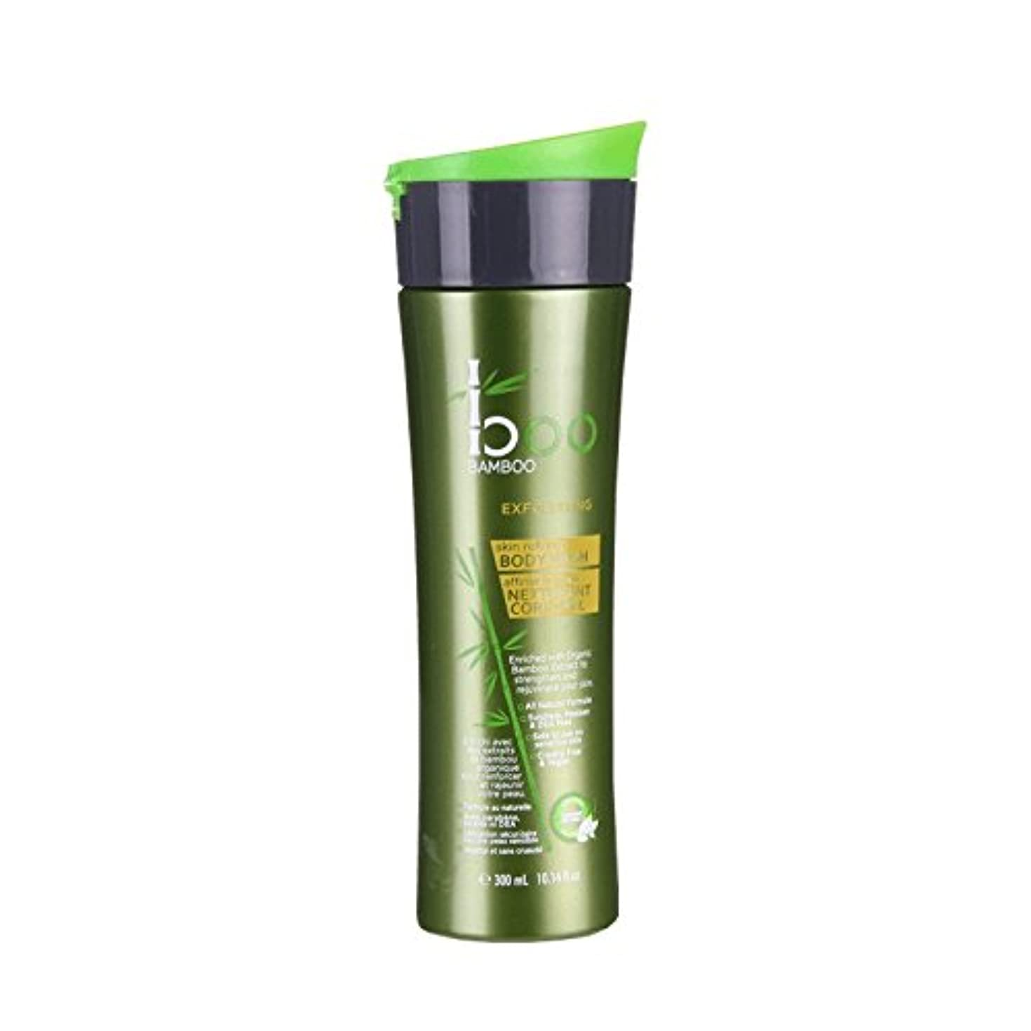 興味市民権代わりにBoo Bamboo Exfoliating Body Wash 300ml (Pack of 6) - 竹ピーリングボディウォッシュ300ミリリットルブーイング (x6) [並行輸入品]
