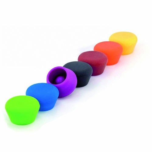 Pulltex 107-793-00 2454140031–Tappo Silicone Vino, Colori Assortiti, REGOULAR