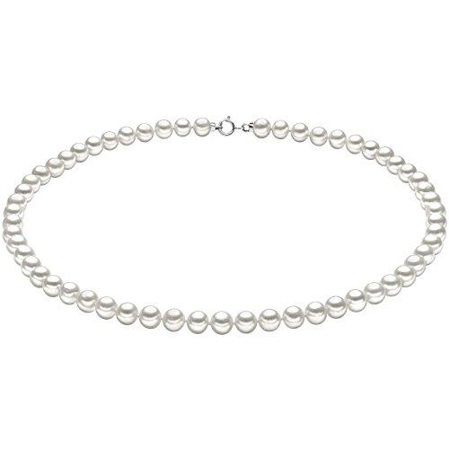 Collana In Oro Bianco E Perle Di Comete Da Donna elegante cod. FWQ 102 AM