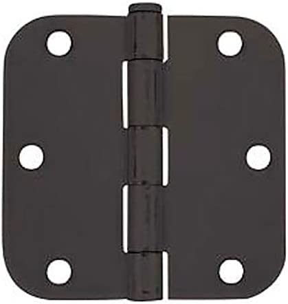 "50 Pack - Cosmas Flat Black Door Hinge 3.5"" Inch x 3.5"" Inch with 5/8"" Inch Radius Corners"