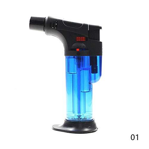 JaneDream Butan-Taschenlampe für Outdoor, Camping, Grillen, Schweißen, Turbo, winddicht, für Küche, Kochgeschirr, Kochzubehör, Blau