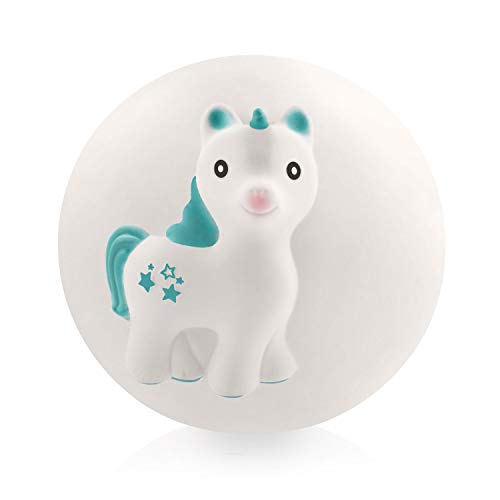 Natural Rubber Sensory Ball for Babies – Sealed Hole, Textured for Teething and Sensory Play, BPA Free, PVC Free, Hole Free Sensory Ball for Babies, Easy to Clean - Mira The Unicorn