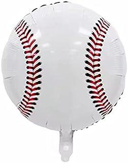 8 Pieces 18 Inches Baseball Balloons Sport Baseball Foil Mylar Balloon Jumbo Balloons for Birthday Sports Themed Party Dec...