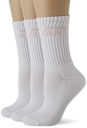 Vans Classic Crew Wmns 6.5-10 3PK Calcetines, White Cool Pink, Talla única para Mujer