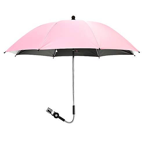 NIBESSER Universal Sonnenschirm für Kinderwagen & Buggy 75 cm Durchmesser Kinderwagen Regenschirm mit Sonnenschutz und Regenschutz UV Schutz 50+ und 360°Drehung