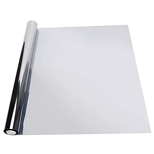 0.5X3 Película Espejo para Ventanas Metros Película Reflectante Plateada Sun Window One Way para Protección Privacidad Hogar
