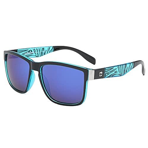 WQZYY&ASDCD Gafas de Sol Gafas De Sol Deportivas Cuadradas Clásicas Hombres Mujeres Gafas De Sol De Playa Gafas De Sol Polarizadas-6_Muti