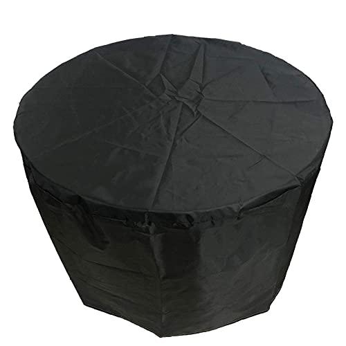 BJKKM Fundas para Muebles de jardín 95x140cm, Funda Redonda para Mesa de Patio, Fundas para Mesa de jardín, Impermeable, Anti-UV, Mejorada Resistente al desgarro 420D Oxford Outdoor, Funda de