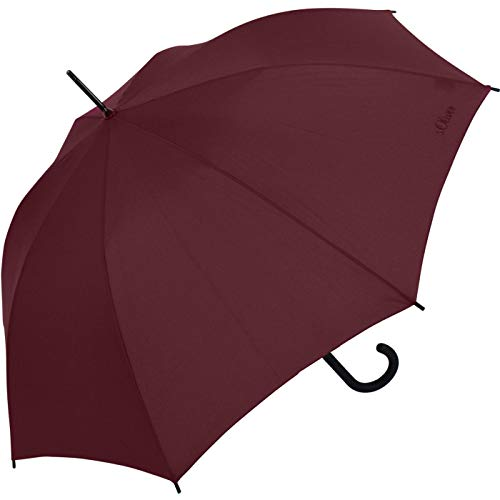 s.Oliver Regenschirm Damen Stockschirm City (Ruby Red)