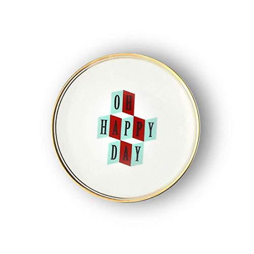 BITOSSI Home & Funky Table LA TAVOLA SCOMPOSTA, Piatto OH Happy Day Ø 17 CM