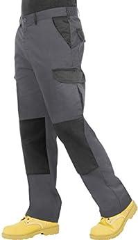 "NUOVI Pantaloncini Uomo Ragazzi Cargo Combat Pantaloni Sicurezza Lavoro indossare i pantaloni blu S 30/"" a 40/"""