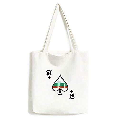 Bulgarien Länderflagge Name Handtasche Basteln Poker Spaten waschbare Tasche