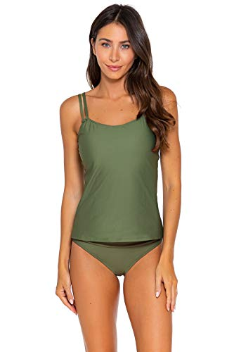 Sunsets Women's Taylor Tankini Top Swimsuit with Underwire, Olive, 38DD