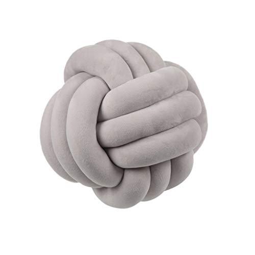 Cojines de bolas de nudo suave, almohada de relleno de cama, decoración del hogar, manta de felpa Informal 01.
