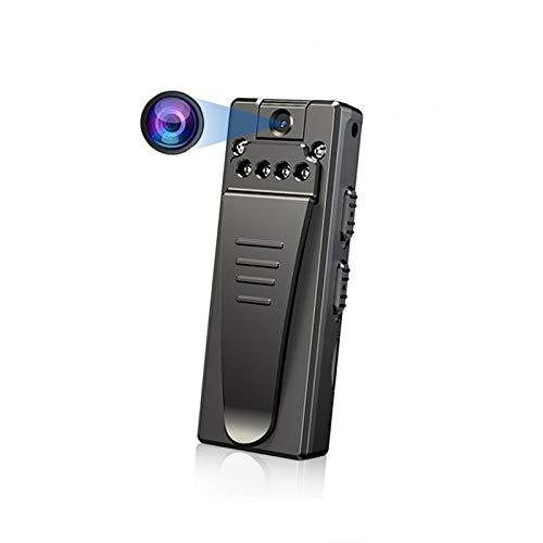 Videocamera indossata mini corpo HD 1080P, con videocamera con luci LED IR da 6 pezzi, videocamera con obiettivo grandangolare ruotabile di 90 ° a 130 gradi, registrazione video per visione notturna