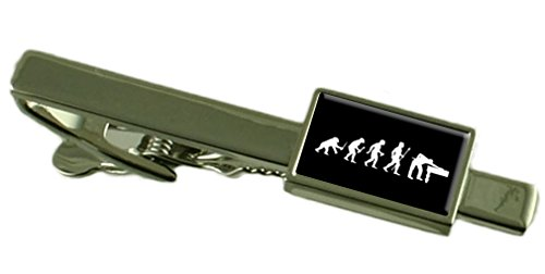 Select Gifts Evolution Affen zum Menschen Snooker Pool Tie Clip Wählen Sie Geschenk Tasche