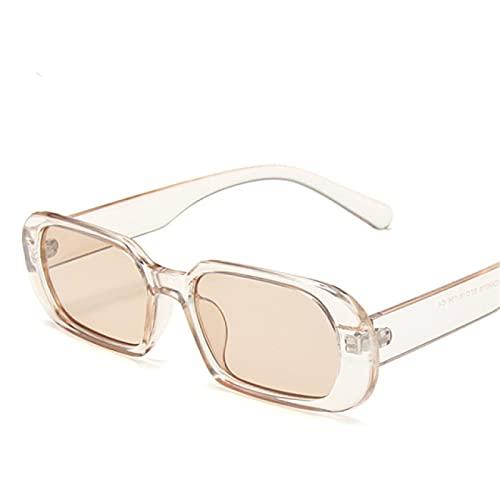 ATARSM Gafas de Sol para Mujer Gafas de Sol para Mujer Gafas de Sol ovaladas Hombres Vintage Verde Rojo Gafas para Mujer Estilo de Viaje Gafas Uv400
