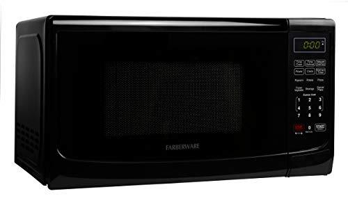 Farberware Classic FMO07ABTBKA 0.7 Cu. Ft. 700-Watt Microwave Oven with LED Lighting, Black