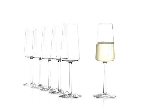 STÖLZLE LAUSITZ Power calici champagne 240ml I 6 bicchieri spumante cristallo I calici prosecco per lavastoviglie I bicchieri prosecco infrangibili I come vetro soffiato I altissima qualità