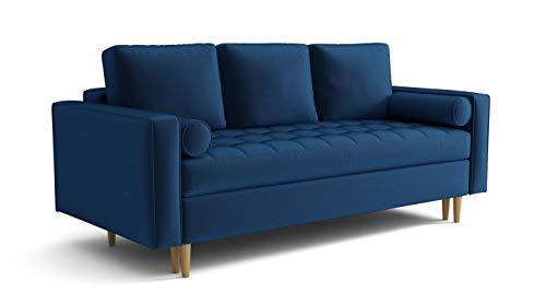 Mos 00131 Moris Sofa Couch Schlafsofa 3-Sitzer Samt Polstersofa Farben Velours