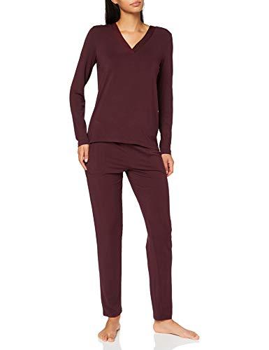 Marc O'Polo Body & Beach W-LOUNGESET LS Juego de Pijama, Granate, S para Mujer