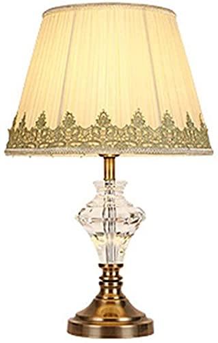 CMMT Lámpara de escritorio Lámpara de mesa de cristal moderno decorativo hogar hotel sala de estar estudio dormitorio mesita de noche lámpara