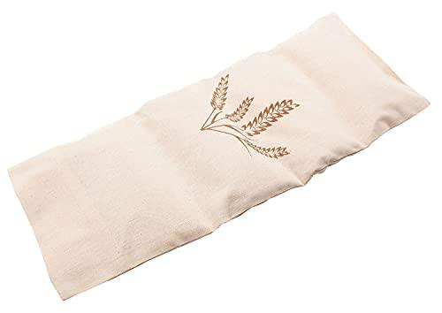 ZOLLNER24 cuscino termico con granelli di grano, ca. 20x53 cm