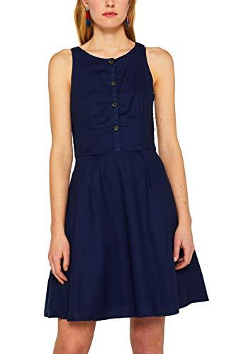 edc by ESPRIT Damen 049CC1E013 Kleid, Blau (Navy 400), (Herstellergröße: 34)