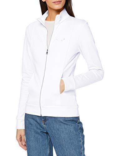 Trigema Damen 5021111 Sweatjacke,Weiß (Weiß (Weiss 001)), Gr. L