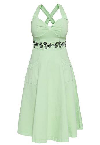 Queen Kerosin Damen Vintage Swing Kleid | Retro Kleid | Florale Stickerei