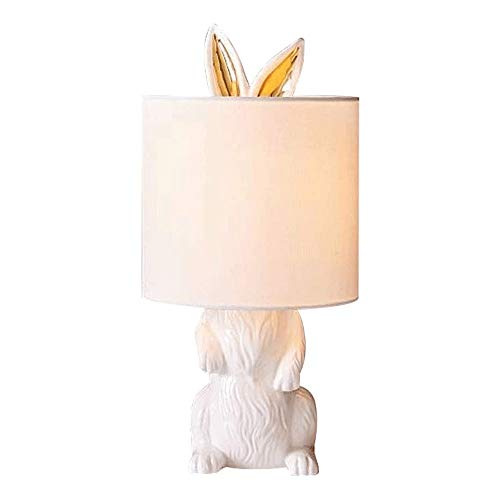 Eenvoudige en moderne tafel Lamp, Konijn Shape Resin Craft Table Lamp, geschikt for woonkamer, studeerkamer, slaapkamer, Balkon, Office, Interior Lamp (button Switch)