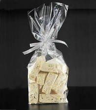 Dalbags – Lot de 100 sachets transparents en plastique de polypropylène avec fond en papier blanc, 120 + 70 x 370 mm, fond carré, pour aliments, biscuits, bonbons, pâtes, petits objets
