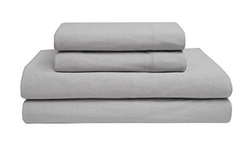 Elite Home - Juego de sábanas de punto, 100% algodón
