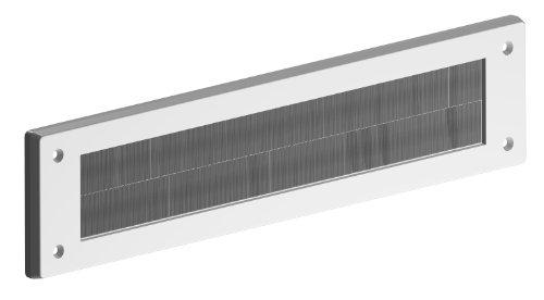 STORMGUARD 06SR0150000W Interne PVC-Briefkastenbürste Abdeckung-Weiß, Aluminium, Außenabmessungen 335 mm x 75 mm Öffnung 279 mm x 45 mm, Weiß