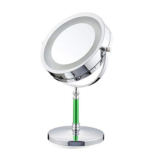Specchio cosmetico l specchio cosmetico per trucco Freestanding LED espejo cosmético Zoom 3x 7 pulgadas Espejo de maquillaje Espejo de mesa para baño Dormitorio Espejo de afeitar Espejo de tocador cos