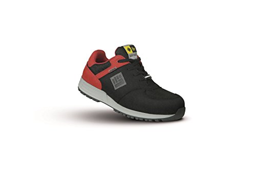 2Work4 2WORK4 Graffiti Model 8A86.07 Safety Shoes, 39, black/red, 1