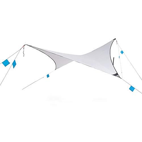 QuRRong Toldo de Refugio Camping Tarpaulin Ultralight Refugio al Aire Libre portátil Impermeable Protector Solar Revestimiento de Plata Protector Solar para Senderismo Playa