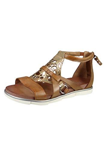 Mjus 740072-401-0001 - Damen Schuhe Sandaletten - Biscotto-Platino, Größe:37 EU